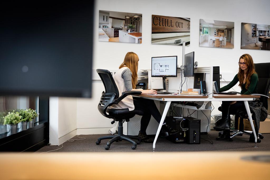 Unique business workspace