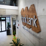 Think Tank sign above reception